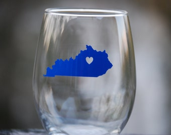 Kentucky wine glass