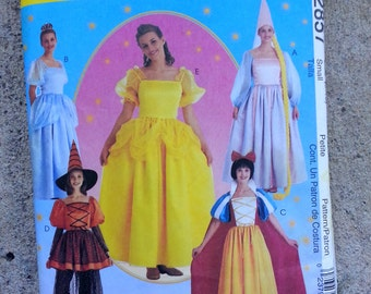 Storybook Princess, Rapunzel, Witch and Snow White patterns - uncut