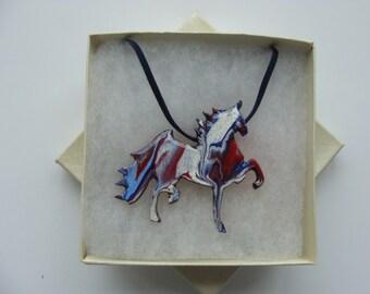Saddlebred Prancing Horse worn as pendant or pin