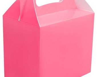 Baby Pink Party Boxes - Favour Box - Treat Box (5 - 75 Packs)