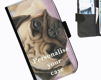 Personalised Leather pu wallet phone case for LG L40 G2 G3 G3S G3Stylus with your own image printed on the case