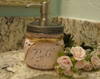 Ball Elite Pint Jar, 17 Additional Colors, Soap Dispenser,Lotion Dispenser,Bronze Pump, Nickel Pump, Cottage Decor, Housewarming, Gift
