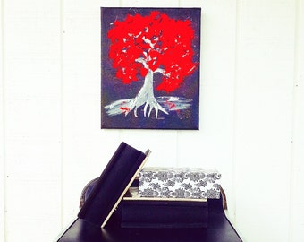 Abstract Painting - Tree Painting - Red Painting