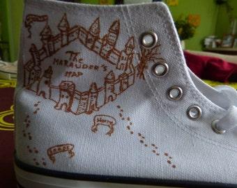 Chaussure carte du Maraudeur (Harry Potter)