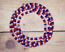Waist Beads - | Belly Beads | African Inspired | Belly Chains | Red, White, Blue