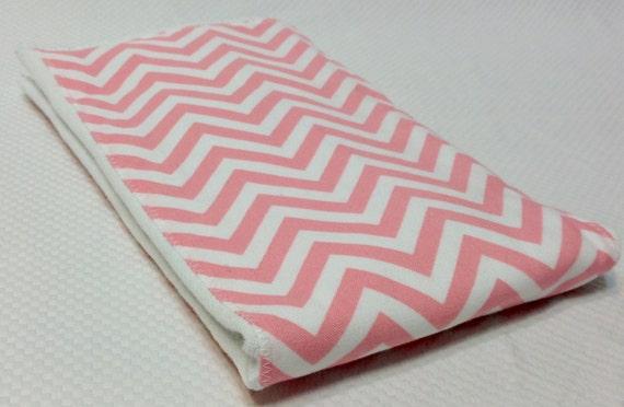 Burp Cloth - Pink Chevron- FREE Embroidery
