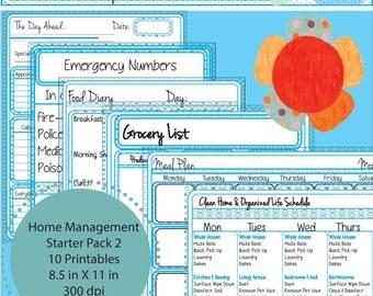 Starter Pack 2: Home Management Printables -ON SALE NOW!