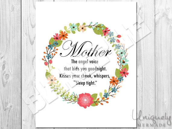 Mother Print Wall Decor Mother's Day Peter Pan Quote
