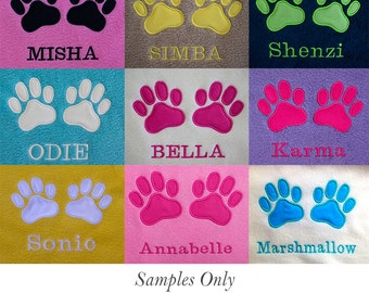 Large Personalised Pet Dog Cat Puppy Kitten Blankets