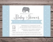 Elephant Baby Shower Invitation Printable