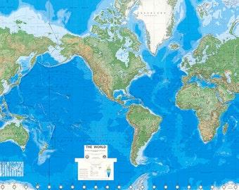 World Mural Wall Map Wallpaper Physical Edition