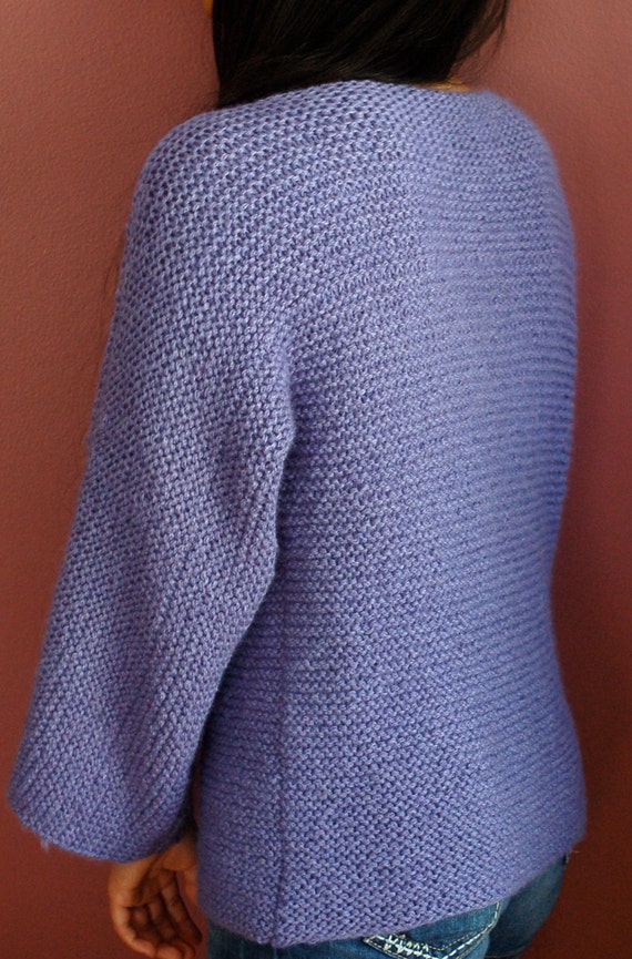 Easy to knit sweater pattern, Garter stitch knitting pattern, Simple to knit ...