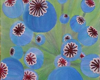 Mixed Media Texture Painting on 20X20 canvas. Original Artwork by Jean Barnett