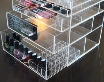 Clear Makeup Organizer Large 5 drawer Acrylic