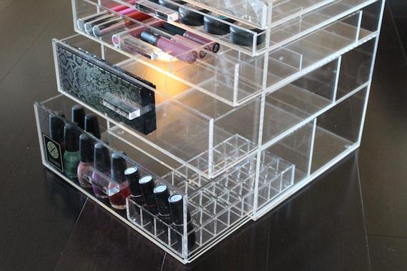makeup organizer large 5 drawer acrylic makeup storage. Acrylic Large Makeup Organizer Drawers   Mugeek Vidalondon