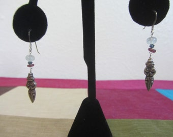 No. 78 S/S Goddess and Mixed Stone Earrings