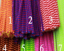 100pcs two-colors sluff strips / pipe cleaner / chenille stem / for any of your diy material / 7 colors / QT013