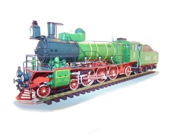 Train model kit of L Vladikavkaz Pacific Steam scale 1:87, Magazine