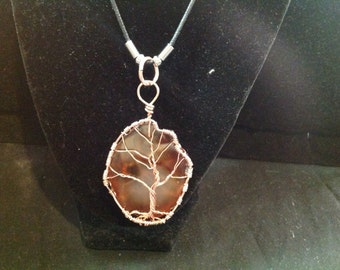 Copper tree of life on geode