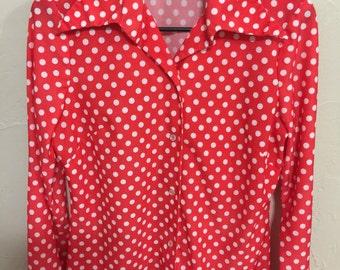 First edition dallas women's button up blouse women's vintage blazer