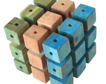 Wooden constructor CUBE - handmade - eco friendly