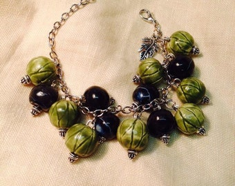 Gooseberry and black currant bracelet