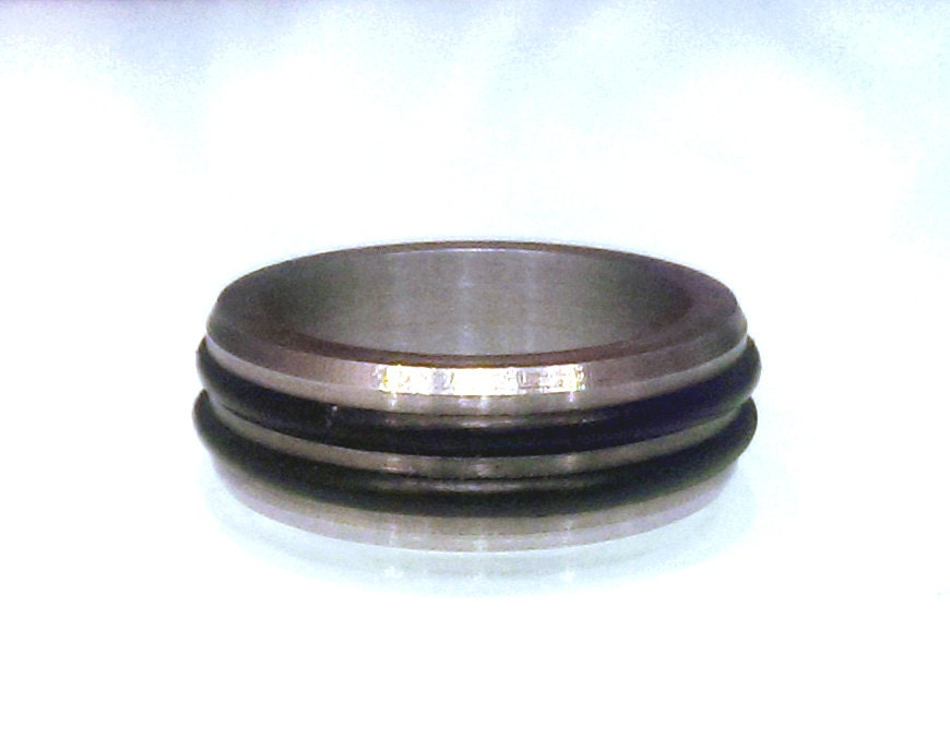 Inconel And Rubber O Ring Mens Wedding Band By BoostedDesign