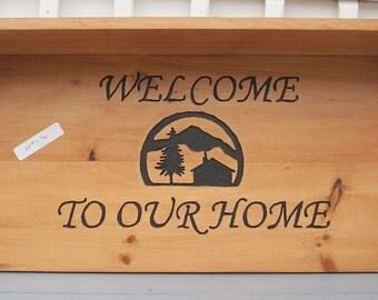 Welcome Sign / Shelf