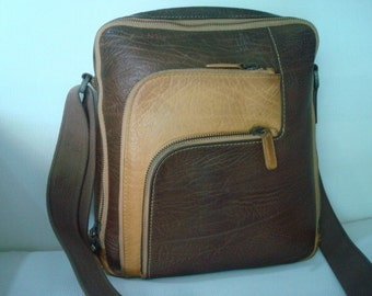 Vintage zipper Leather Brand  SKAP