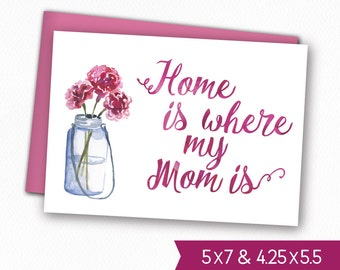 Mother's Day Printable Card - Instant Download Mother's Day Greeting Card, Mother's Day E-Card, Digital Download Mom Day Card to Print M1005