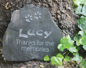 Medium Pet Memorial Stone - Thanks for the memories