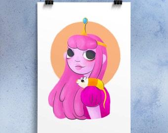 Princess Bubblegum ~ A3 print