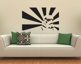 New Star Wars Stormtrooper Black Wall Decal Wall Stickers Large 92cm X 58cm