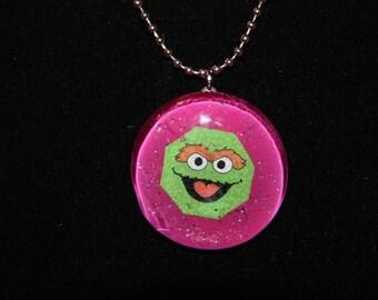 Oscar the Grouch Necklace