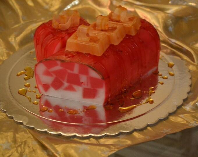 Christmas Centerpiece Idea, Handmade Artfully designed Scented Soap Cake, Christmas Elegant Gift, Christmas home Decor, Party centerpiece
