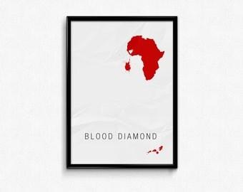 Blood Diamond Custom Minimal Movie Poster