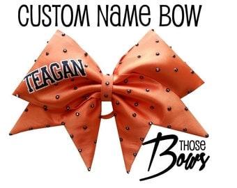 Custom Cheer Bow with Name
