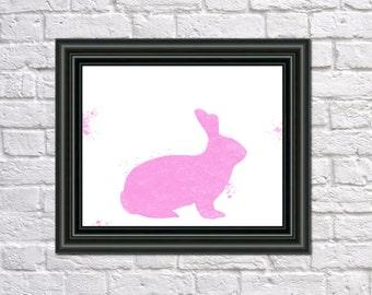 Bunny Rabbit Print Fine Art Children's Animal Wall Art Home Decor