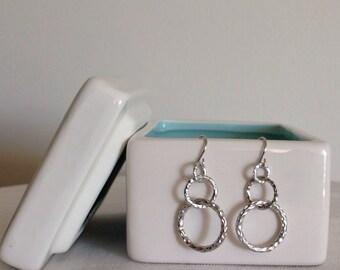 Cascading ring earrings