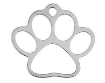 Very cute sterling silver 925 paw charm / pendant, 16 mm. Ideal for making earrings.