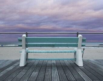 Bench, Boardwalk, New Jersey Shore, Jersey Shore, Summer, Beach, Beach Photography, Beach Prints, New Jersey Beaches, Art Prints