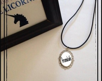 """Necklace leather """"Customizable"""" 18 * 25mm"""