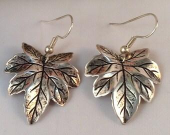Leaf Charm Earrings