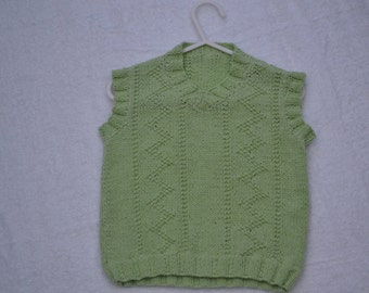 Boys knitted 'V' neck sleeveless jumper