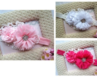 Newborn Baby Headband Girl Hairband Flower Elastic Stretchy Photo Prop Free Postage