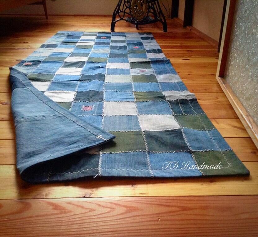 Denim Rug From Old Jeans: Chandeliers & Pendant Lights