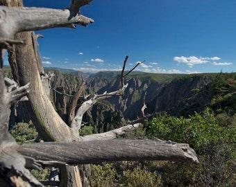 "Black Canyon of the Gunnison, Colorado 8""x12"" Standout Print, Black Edge"