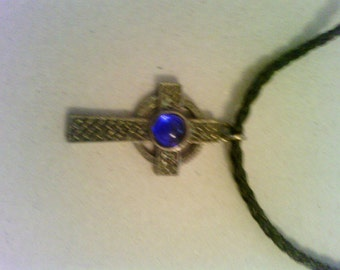 cross and Gothic style leather necklaces