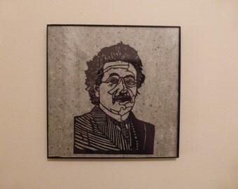 Einstein Portrait handcut paper