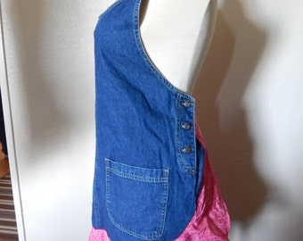 Recycled Overall Apron